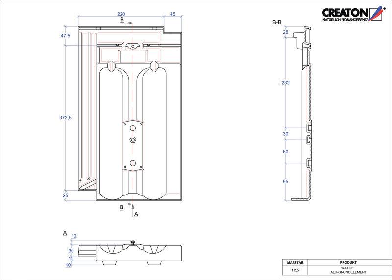 CAD файл черепиці RATIO алюміній ґрунт. GRUNDALU