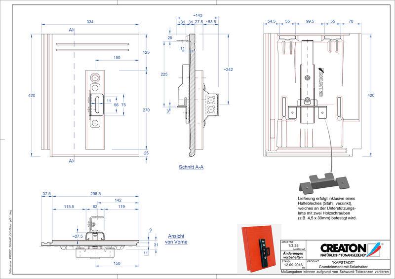 CAD файл черепиці KAPSTADT осн. дах. Solar