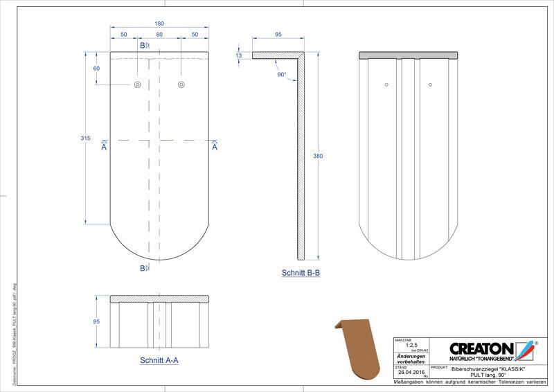 CAD файл черепиці KLASSIK напівкругла форма RUND-PULT-lang