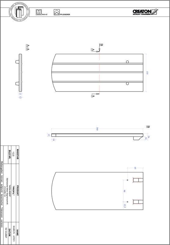 CAD файл черепиці PROFIL сегментна форма KERA-SAECHS-15-CM-1-1