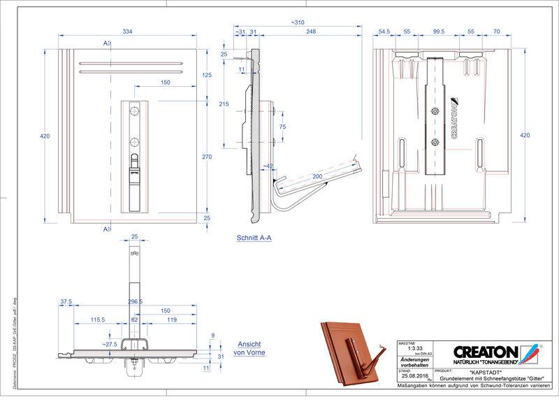 CAD файл черепиці KAPSTADT осн. дах. Gitter