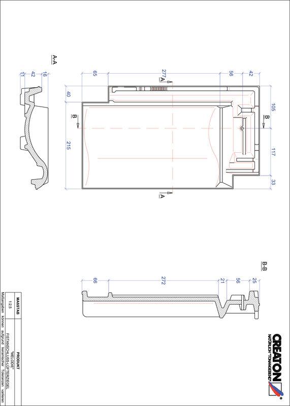 CAD файл черепиці MELODIE черепиця  гребенева вентиляційна FALZ
