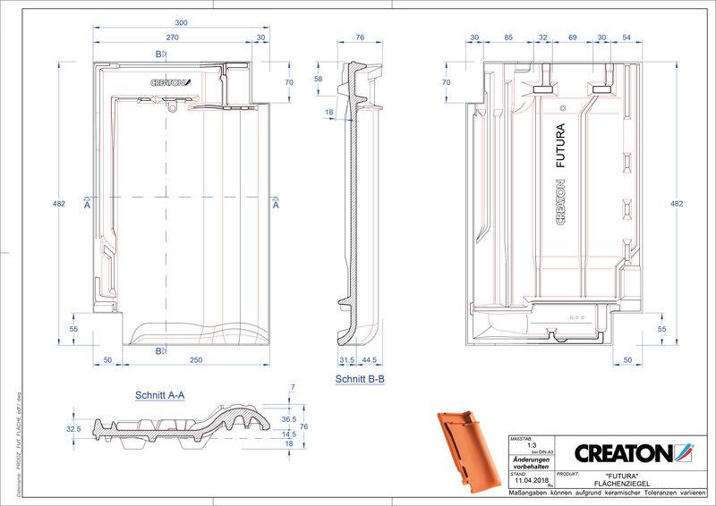 CAD файл черепиці FUTURA покрівельна черепиця FLA