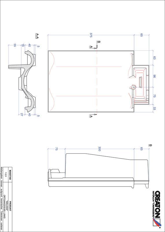 CAD файл черепиці MELODIE черепиця бічна ліва OGL