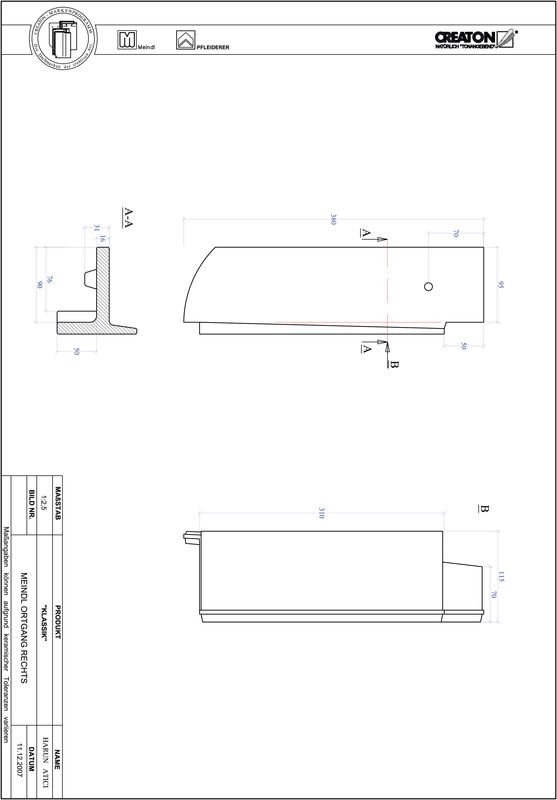 CAD файл черепиці KLASSIK напівкругла форма RUND-OGR