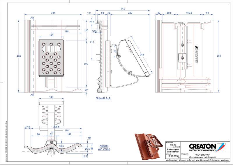 CAD файл черепиці GÖTEBORG осн. дах. Steigtritt