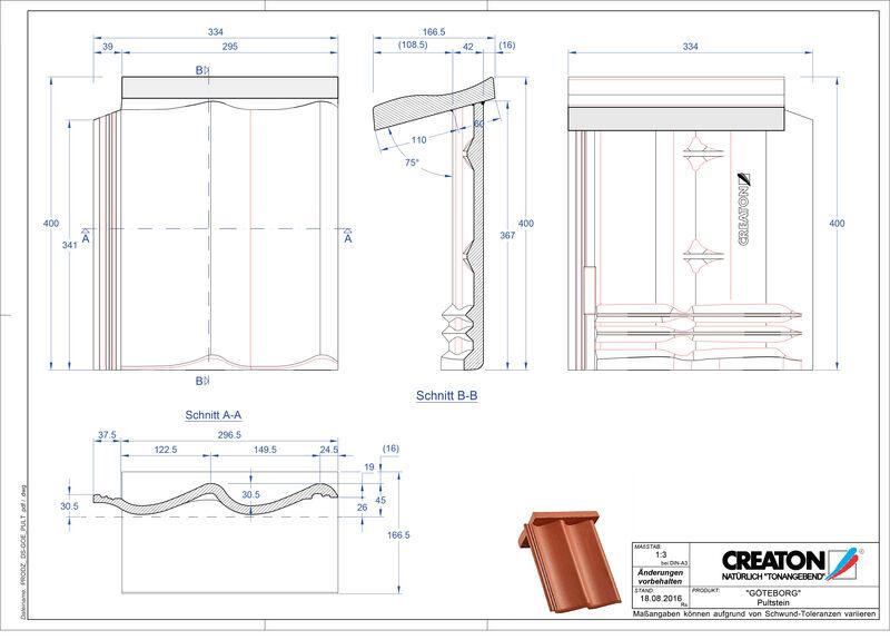 CAD файл черепиці ETRUSKO черепиця для односхилого даху PULTSTEIN
