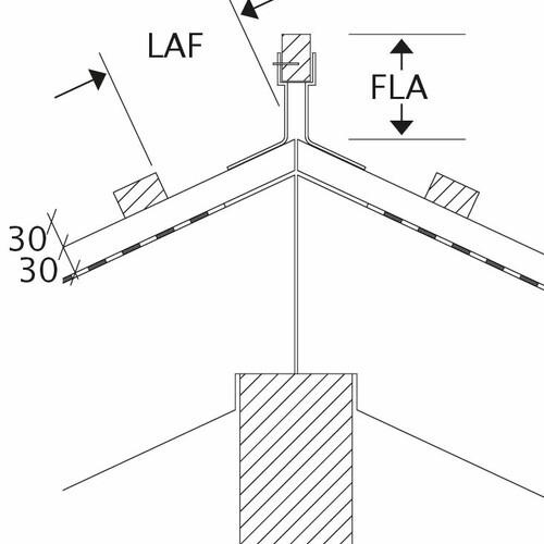 Технічне креслення черепиці  всі моделі LAF-FLA