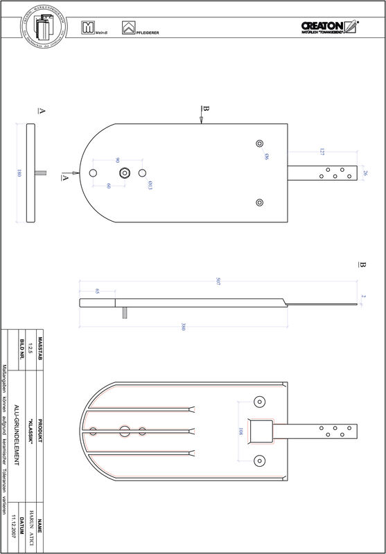 CAD файл черепиці KLASSIK напівкругла форма RUND-GRUNDALU