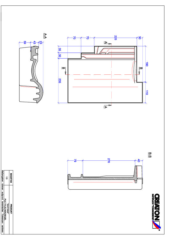 CAD файл черепиці SINFONIE черепиця для односхилого даху PULT