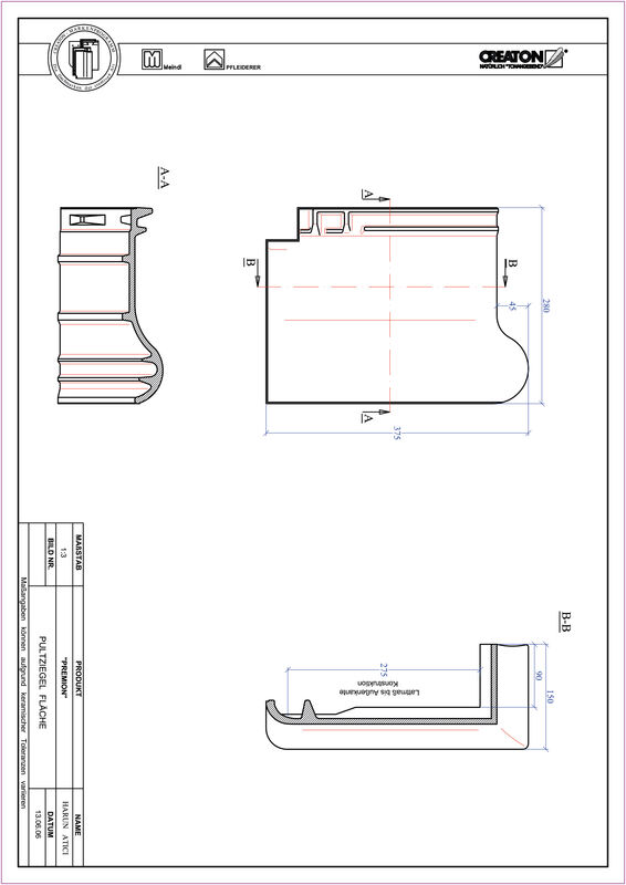 CAD файл черепиці PREMION черепиця для односхилого даху PULT