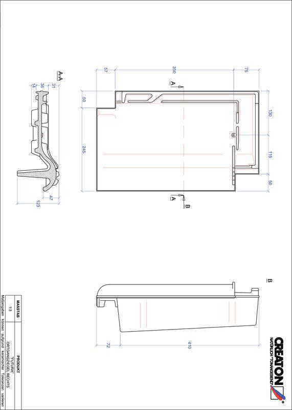 CAD файл черепиці FUTURA черепиця бічна права OGR