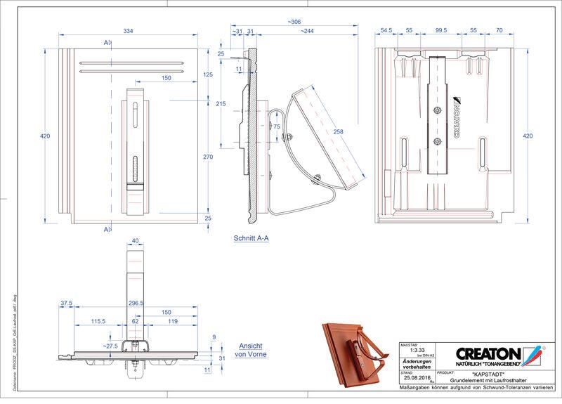CAD файл черепиці KAPSTADT осн. дах. Laufrost