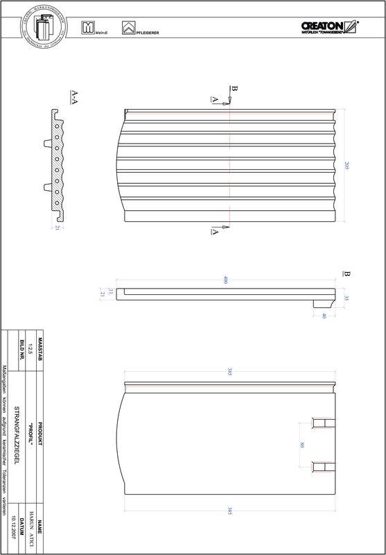 CAD файл черепиці PROFIL сегментна форма STRANGFALZ-GEWELLT-1-1