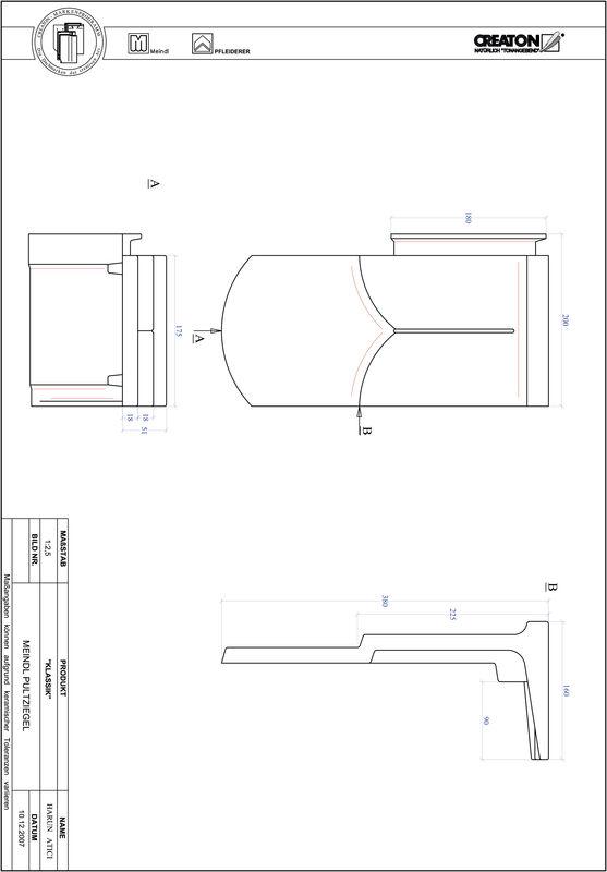 CAD файл черепиці KLASSIK напівкругла форма RUND-PULT