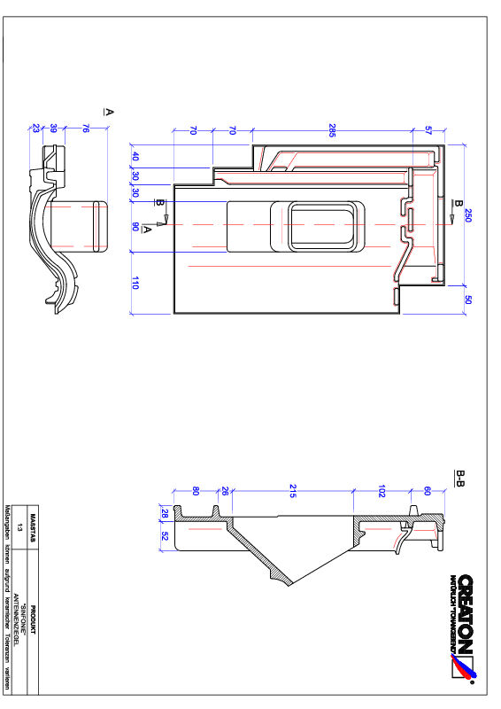 CAD файл черепиці SINFONIE антенна черепиця ANTENNE