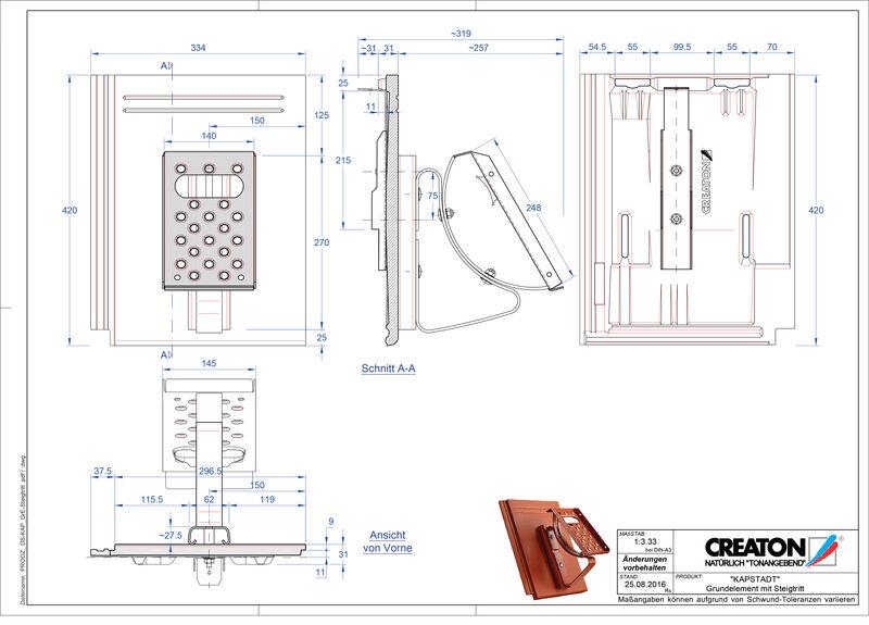 CAD файл черепиці KAPSTADT осн. дах. Steigtritt