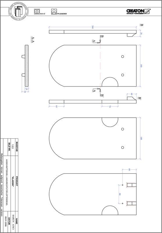CAD файл черепиці KLASSIK напівкругла форма RUND-AUSSCHNITT-LUEFTZ