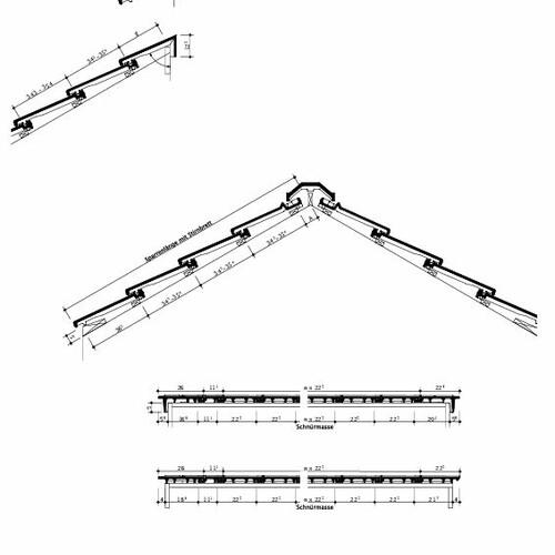Технічне креслення черепиці DOMINO Швейцарія DOMINO