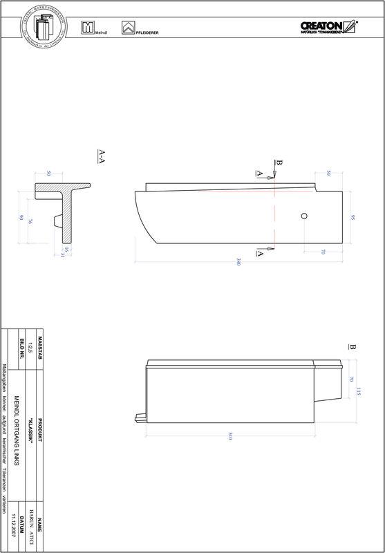 CAD файл черепиці KLASSIK напівкругла форма RUND-OGL