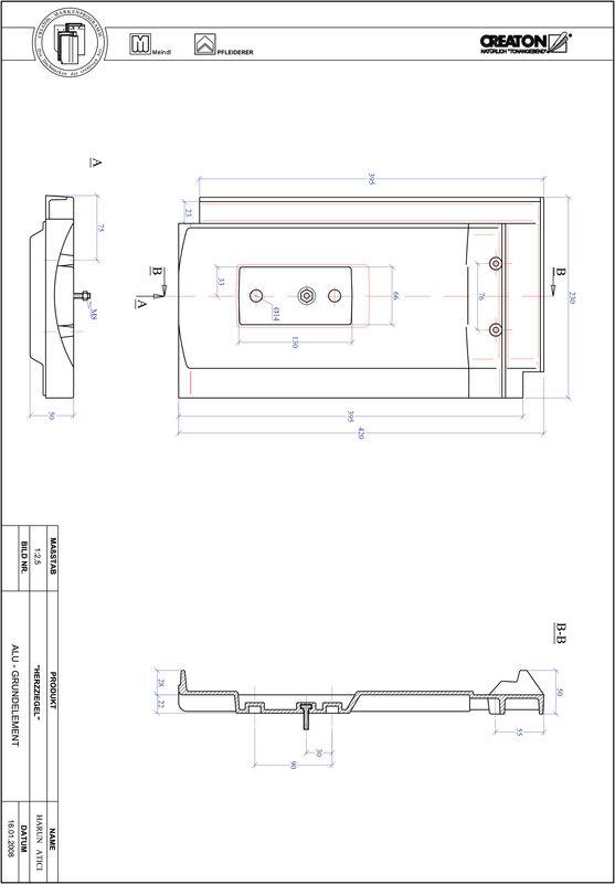 CAD файл черепиці HERZZIEGEL алюміній ґрунт. GRUNDALU