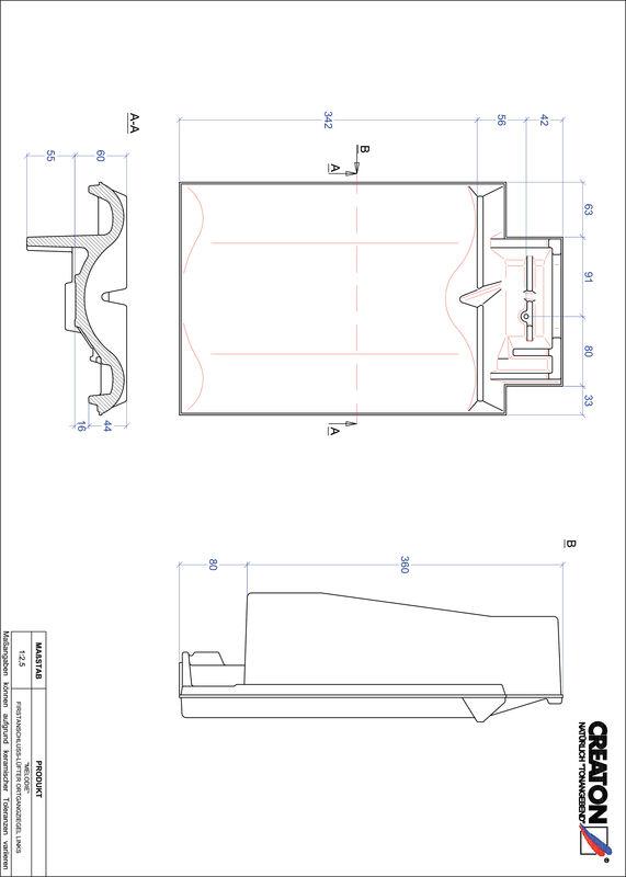 CAD файл черепиці MELODIE черепиця  гребенева вентиляційна бічна ліва FALOGL