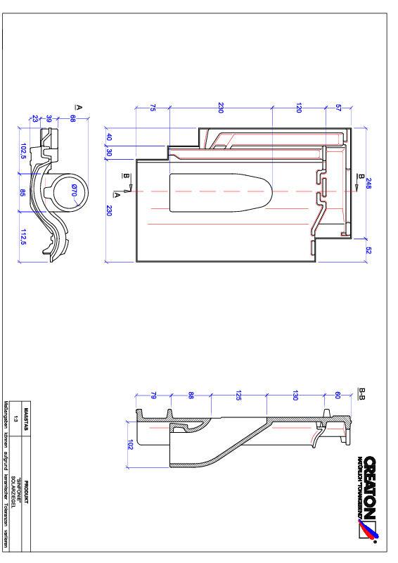 CAD файл черепиці SINFONIE наскрізна черепиця для системи сонячних батарей SOLAR