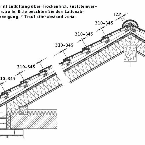 Технічне креслення черепиці HEIDELBERG DQF LUEFT-PROFILIERTE-BDS