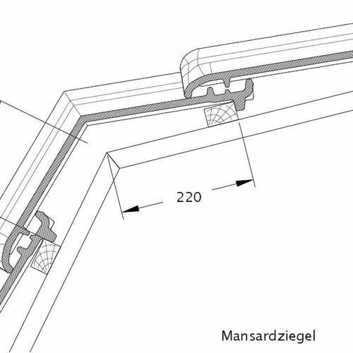 Технічне креслення черепиці TITANIA MAZ