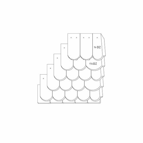 Технічне креслення черепиці KLASSIK OGAusbildung-Doppeldeckung-mit-OG-3-4-1-1-4-Traufziegel