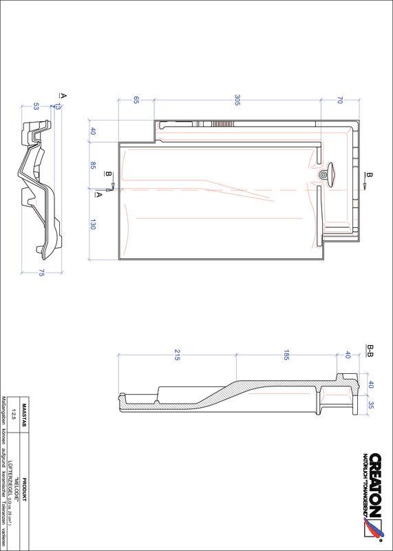 CAD файл черепиці MELODIE вентиляційна черепиця LUEFTZ