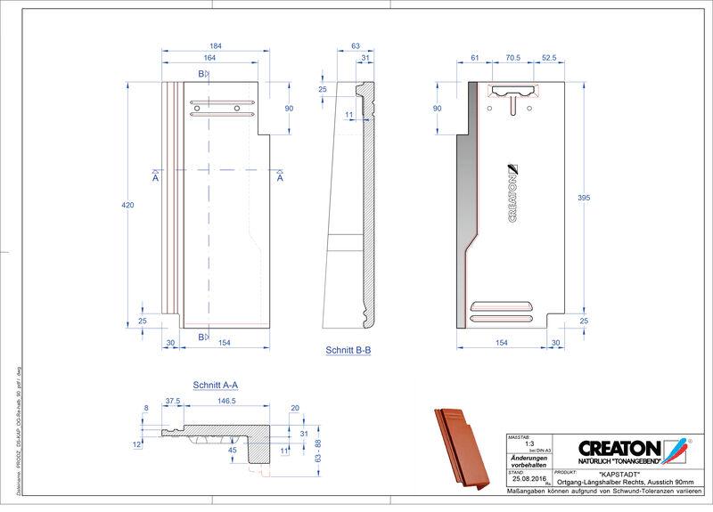 CAD файл черепиці KAPSTADT черепиця бічна права OGR-halb-90