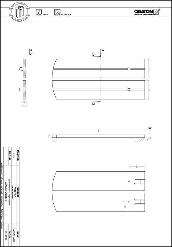 CAD файл черепиці PROFIL сегментна форма KERA-SAECHS-15-CM-LH
