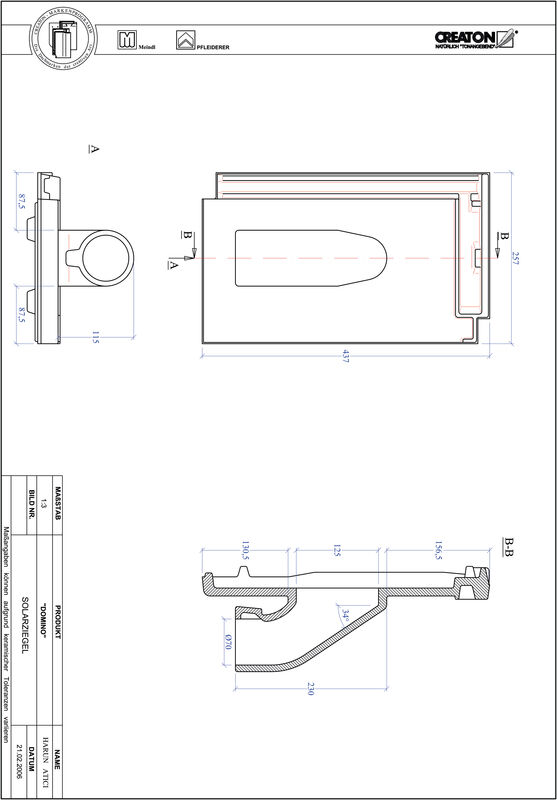 CAD файл черепиці сонячної Domino SOLAR