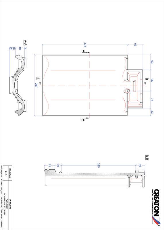 CAD файл черепиці MELODIE двохвильова черепиця DWZ