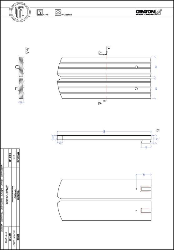 CAD файл черепиці PROFIL сегментна форма BKBI-LH