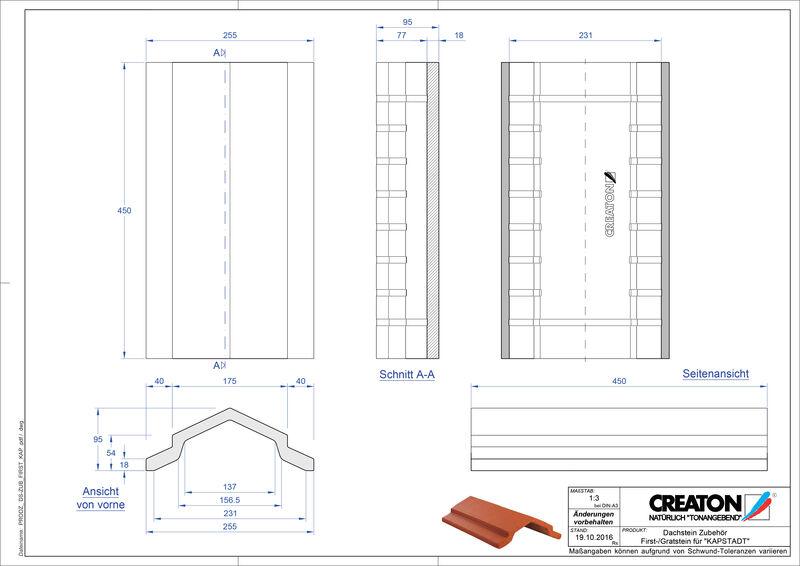 CAD файл черепиці KAPSTADT аксесуари FIRST-Firststein