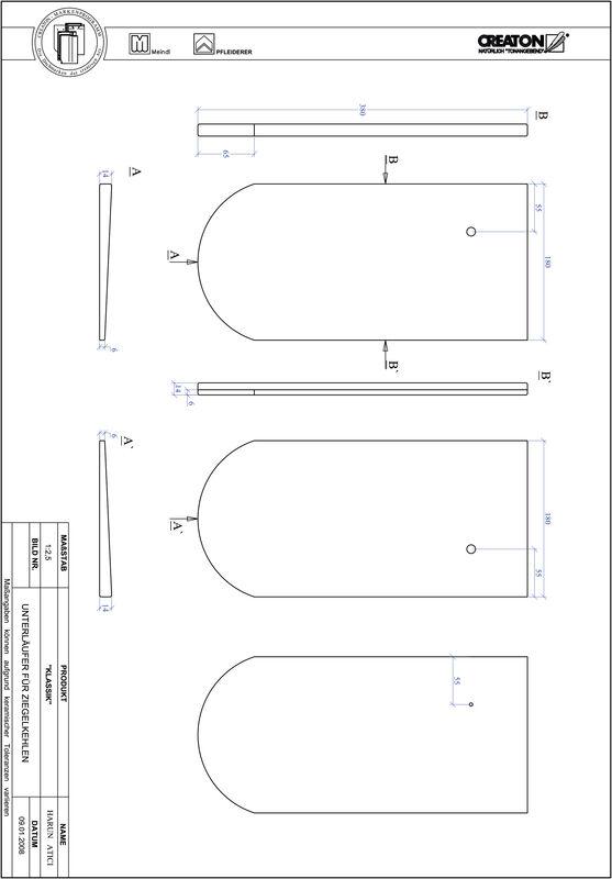 CAD файл черепиці KLASSIK напівкругла форма RUND-UNTERLAEUFER