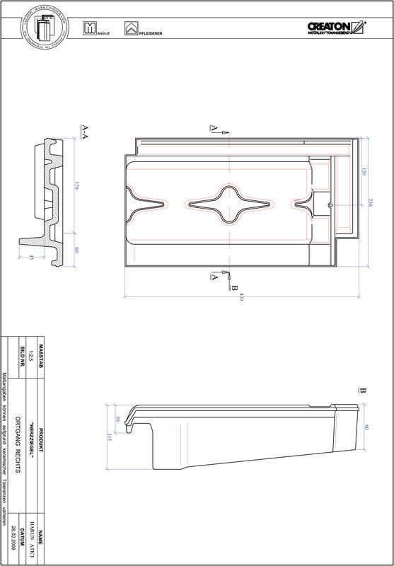 CAD файл черепиці HERZZIEGEL черепиця бічна права OGR