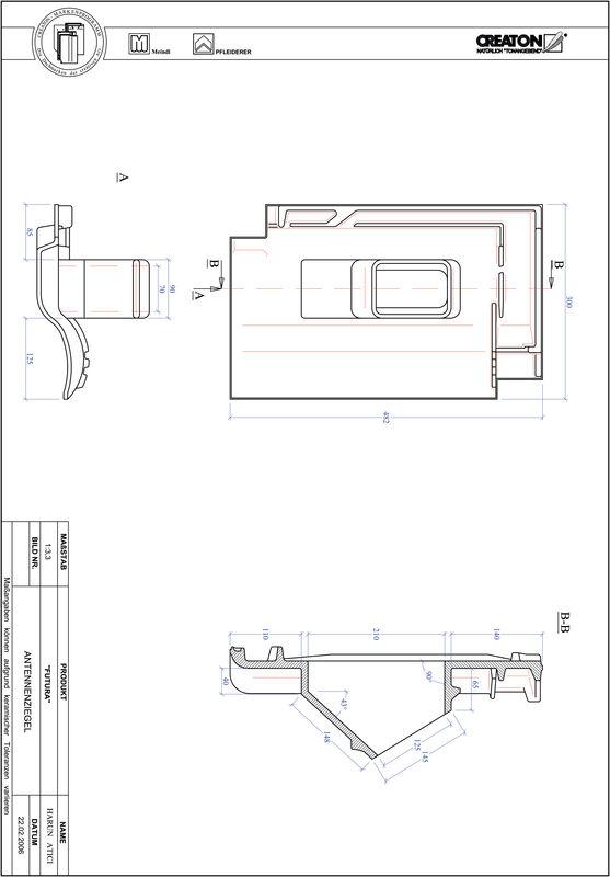 CAD файл черепиці FUTURA антенна черепиця ANTENNE