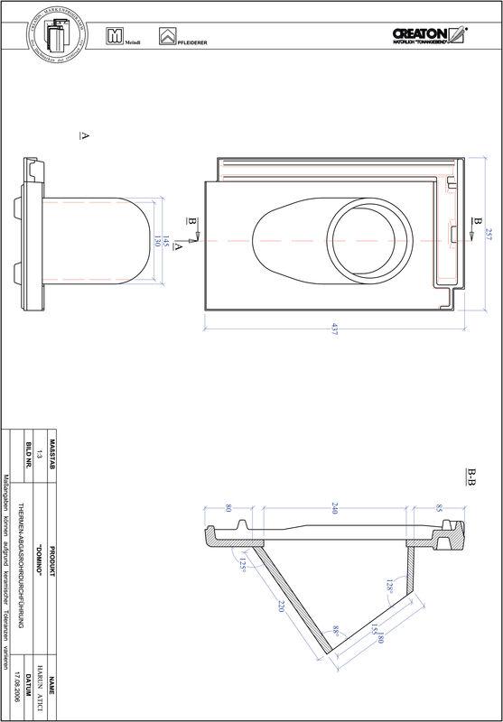 CAD файл черепиці газової Domino THERME