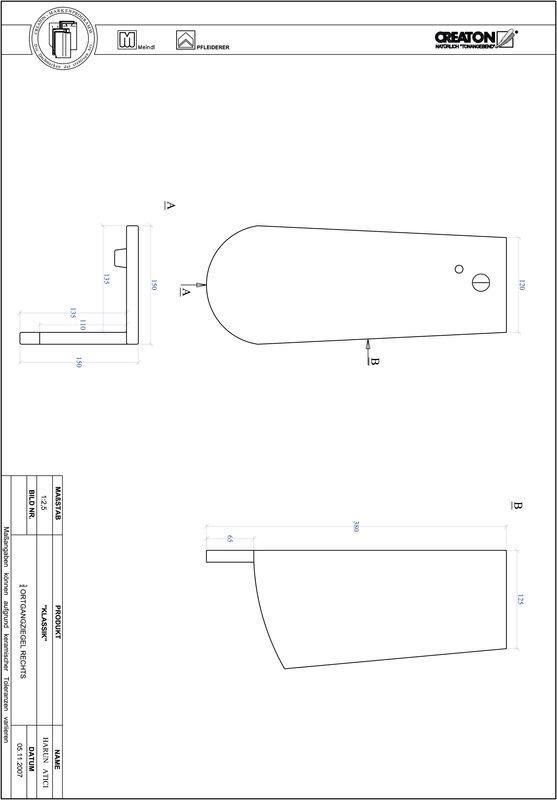 CAD файл черепиці KLASSIK напівкругла форма RUND-OGR-3-4