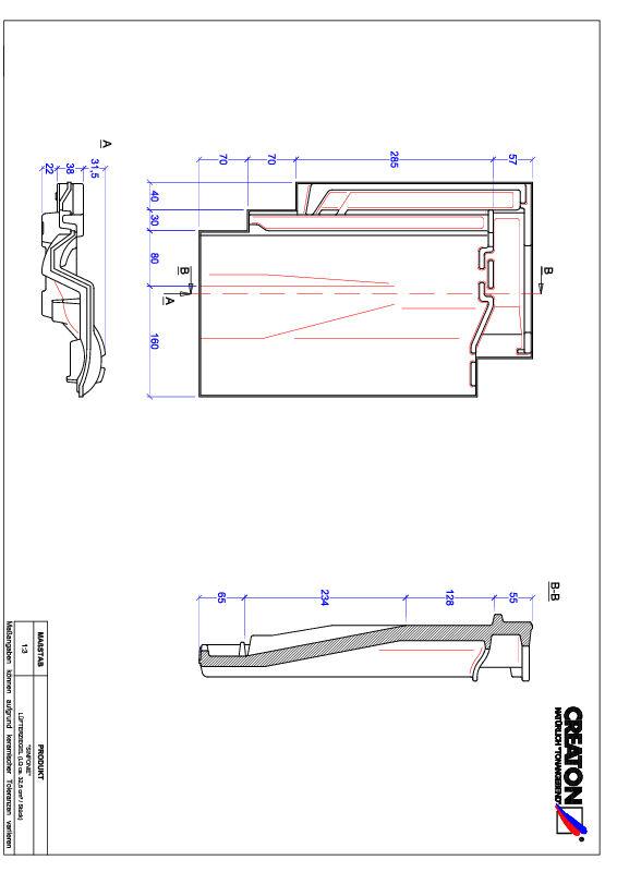 CAD файл черепиці SINFONIE вентиляційна черепиця LUEFTZ
